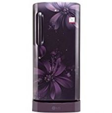 Buy LG 215 L 3 Star Direct-Cool Single Door Refrigerator (GL-D221APAW.DPAZEBN, Purple Aster,Base Stand with Drawer,Inverter Compressor) from Amazon