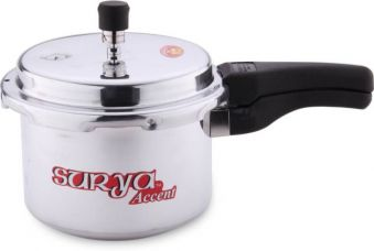 Get 31% off on Surya Accent 3 L Pressure Cooker  (Aluminium)