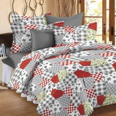 Get 56% off on Story@Home Cotton Floral Double Bedsheet  (1 Double Bedsheet With 2 Pillow Covers, White)