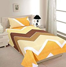 Zesture Bring Home Premium 144 TC Cotton Single Bedsheet with Pillow Cover - Multicolour for Rs. 399