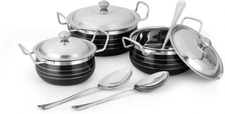 Buy Classic Essentials Cookware Set(Steel) for Rs. 444
