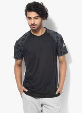 Adidas Mep Clmcool Jsy Black Round Neck T-Shirt for Rs. 945