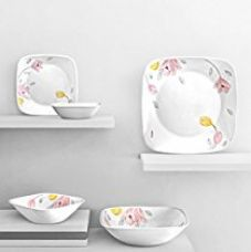 Corelle Square Round Elegant City Sq Dinner Set,21 Pcs for Rs. 11,095
