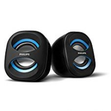 Buy Philips IN-SPA35A/94 Notebook USB Speakers (Blue) from Amazon