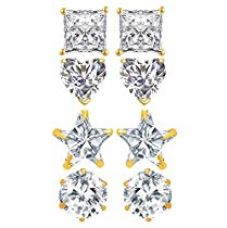 YouBella Fashion Jewellery Combo of 4 Gold Plated Stylish Fancy Party Wear Earrings for Girls and Women for Rs. 220