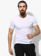 Buy Nike As Brthe Ss Tailwind White V Neck T-Shirt for Rs. 1817