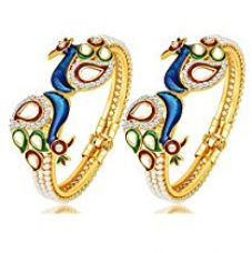 YouBella Jewellery Traditional Gold Plated Bracelet Bangle Set For Girls and Women for Rs. 269