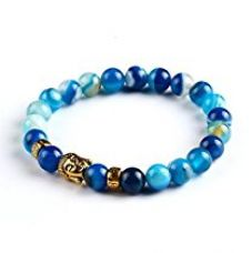 Buy Hot And Bold Red Agate Certified Natural Gold Plated Buddha Beads Strand Bracelet For Women , Men, Girls, & Boys from Amazon