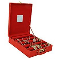 Kuber Industries™ Five Roll Bangle Box With Lock in Hard Board With Inside Mirror (Red)-KI3233 for Rs. 999