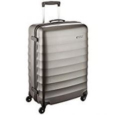 Buy American Tourister Polyester 55 cms Gunmetal Hardsided Suitcase (71W (0) 58 001) from Amazon