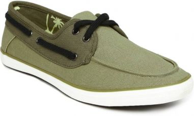 Buy Mast & Harbour Casual Shoes  (Green) from Flipkart