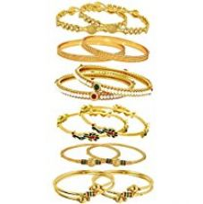 Youbella Gold Gold Plated Combo Of 6 Bangle Set For Women for Rs. 472