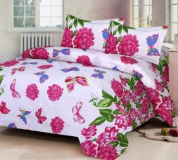Buy IWS Cotton Printed Double Bedsheet  (1 Bedsheet, 2 Pillow Covers, Multicolor) from Flipkart