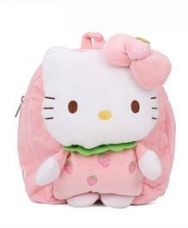 Buy Hello Kitty Plush School Bag Pink - 10 Inches from FirstCry