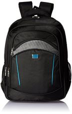 Albert and James Synthetic Black, Grey and Blue Laptop Bag for Rs. 1,299