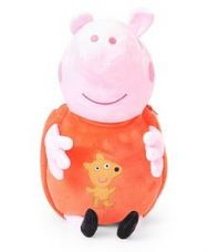 Flat 10% off on Peppa Pig Plush Toy Bag Pink Orange - 17 Inches
