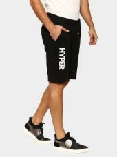 Abof Men Black Printed Regular Fit Shorts for Rs. 695