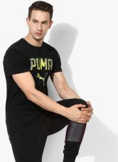 Buy Puma Rebel Black Round Neck T-Shirt for Rs. 780
