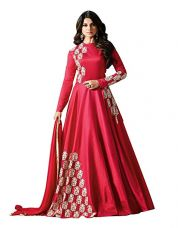 Buy Generic Women's Silk Anarkali Salwar Suit Set (Mu11004_Pink_Free Size) from Amazon