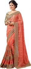 M.S.Retail Embroidered Bollywood Net Saree  (Pink) for Rs. 3,250