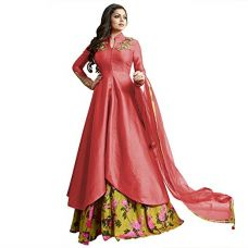 Buy Touch Trends Red Party Wear Salwar Suit | Wedding Dress Embellished Kasab Hand Work Crystal With Digital Printed Bottom | Princess Look at Reasonable Price from Amazon