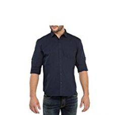Urbano Fashion Navy Blue Solid Casual Shirt for Men (Size : 44) for Rs. 328
