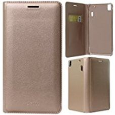 Buy DMG Premium PU Leather Flip Cover Case for Lenovo A7000 / A7000 Turbo / Lenovo K3 Note (Gold) from Amazon