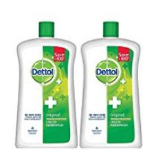 Dettol Original Liquid Soap Jar - 900 ml (Pack of 2) for Rs. 355