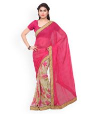 Buy Georgette Printed Saree from Myntra