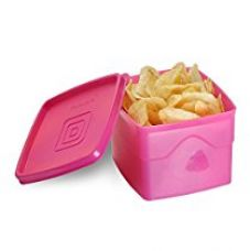 Buy Cello Max Fresh Classic Square Large Polypropylene Container, 875ml, Pink from Amazon