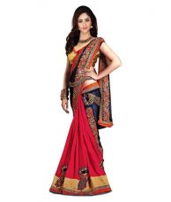 Get 54% off on Designer Saree1 Multicoloured Chiffon Saree