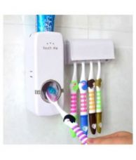 Buy Automatic Toothpaste Dispenser And Toothbrush Holder from SnapDeal