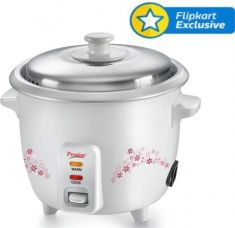 Get 60% off on Prestige Delight PRWO - 1.5 Electric Rice Cooker with Steaming Feature  (1.5 L, White)