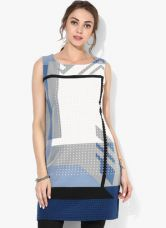 Flat 57% off on W Multicoloured Printed Polyester Spandex(Stretchable) Tunic
