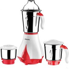 Buy Philips HL7510/00 550 W Mixer Grinder  (White, Red, 3 Jars) from Flipkart