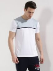 Buy BLOTCH ACTIVE Contrast Panel T-Shirt for Rs. 396