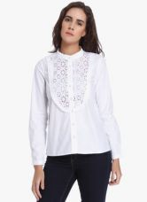 Buy Vero Moda White Solid Shirt for Rs. 1150
