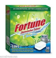 Buy FORTUNE Dishwasher Tablets, 5 in 1 Action, Fresh Scent, 180 Count from Ebay