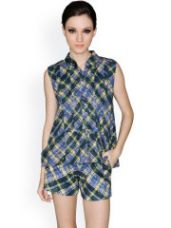 Buy Checked Top from Myntra