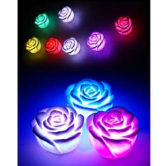 LED Romantic Rose Flower Color changed Lamp Light F Assorted for Rs. 253