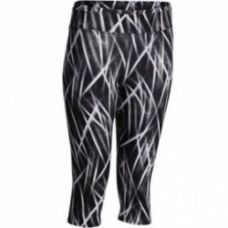Flat 37% off on Energy Women's Fitness Print Cropped Bottoms - Black/White