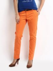 Flat 40% off on Clothing Women Slim Fit Chinos