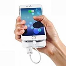 BAZONE™ 5S/6/6S/6S Plus Power Bank Short Flat Charging Cable For Iphone-WHITE for Rs. 249