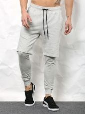 SKULT Men Grey Melange Slim Fit Meggings for Rs. 1,499