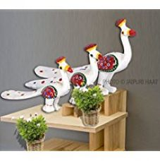 Jaipuri Haat Handicrafted set of 3 showpiece Peacock for decoration and Gift purpose (20X10Cm ,15X 8Cm ,14X8 Cm) for Rs. 249