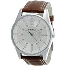 Titan Octane Analog Silver Dial Men's Watch - NE9322SL03A for Rs. 3,684