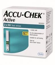 Flat 19% off on Accu-Chek ACTIVE 100 TEST STRIPS 03/18 ( 2 X 50 ) MARCH' 2018