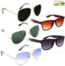 Buy Elligator Unisex Sunglasses Combo (Pack Of 5) from ShopClues