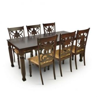Buy Victoria Six Seater Dining Set Wenge from Fabfurnish