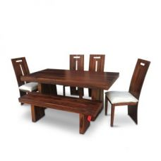 Buy Austin Six Seater Dining Set Honey for Rs. 79,900